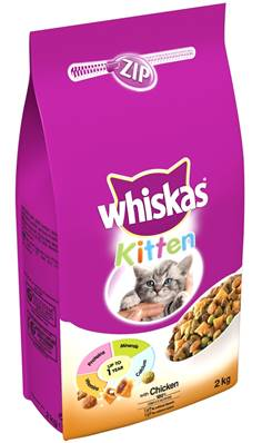 Whiskas Dry Cat Food 2kg Kitten