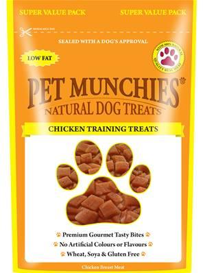 Pet Munchies Hypoallergenic Dog Treats - Chicken Training Treats 50g