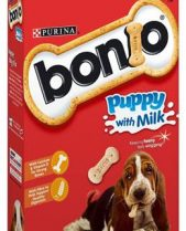 Bonio Puppy Biscuits with Milk - 350g