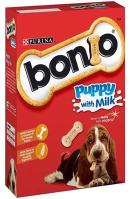 Bonio Puppy Biscuits with Milk - 350g