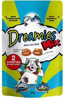 Dreamies Cat Treats Mixed Flavours - Salmon and Tuna 60g