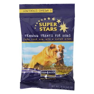 Fish4Dogs Super Stars Gluten Free Dog Training Treats - 75g