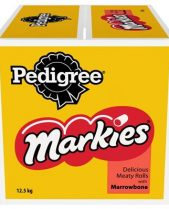 Pedigree Markies Dog Biscuits - Meaty Rolls With Marrowbone 12.5kg