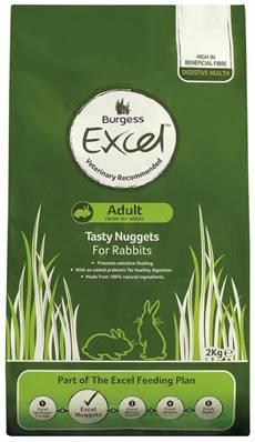 Burgess Excel Adult Rabbit Nuggets 2kg