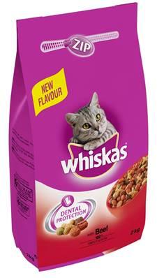 Whiskas Dry Cat Food 2kg Beef