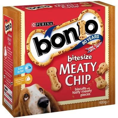 Bonio Dog Biscuits - Bitesize Meaty Chip 400g