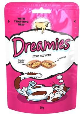 Dreamies Cat Treats - Beef 60g