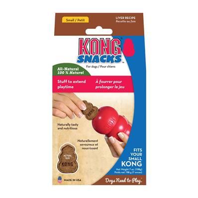Kong Snacks Dog Treats - Liver, Mini (Fits Small Kong Dog Toy)