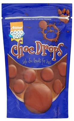 Good Boy Dog Chocolate Drops Treats - 250g