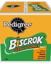Pedigree Biscrok Gravy Bones Dog Biscuits - Chicken 10kg