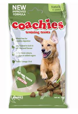 Coachies Naturals Dog Training Treats (Adult) - Chicken Chews, 75g