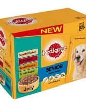 Pedigree Wet Dog Food Pouches (Senior) - Variety In Jelly (12 X 100g)