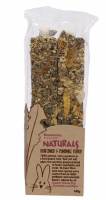 Rosewood Natural Treat Sunflower & Chamomile Sticks 140g